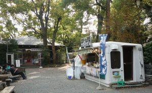 寒川神社 売店広場