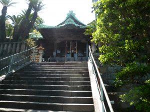 西叶神社 石段