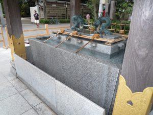 大国魂神社 手水ガード