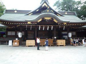 大国魂神社 拝殿前